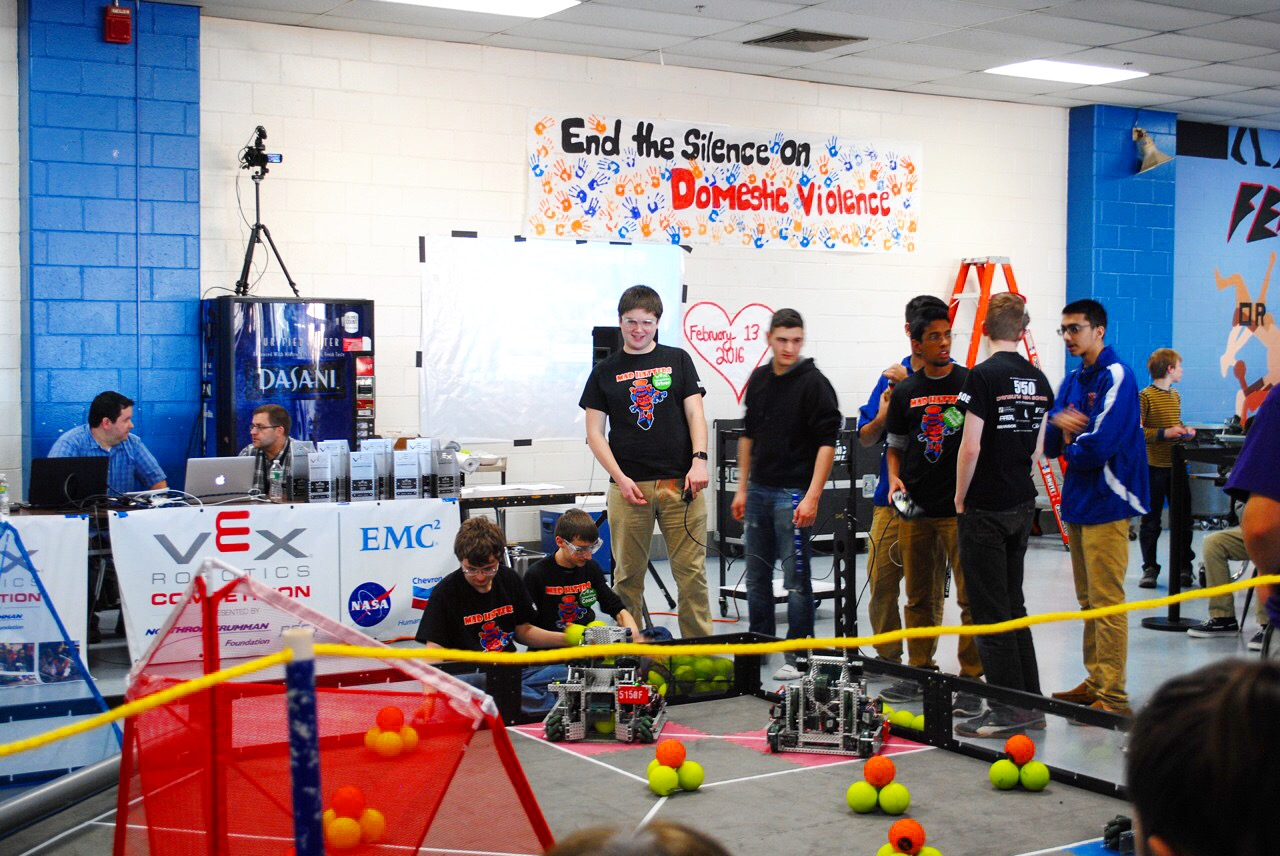 Danbury High School Mad Hatters robotics team hosted its