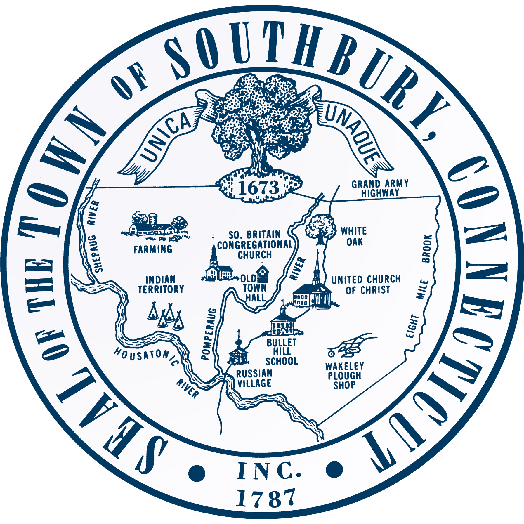 Image result for SOuthbury town seal