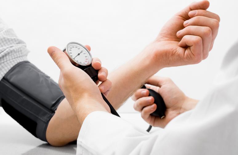 a blood pressure screening