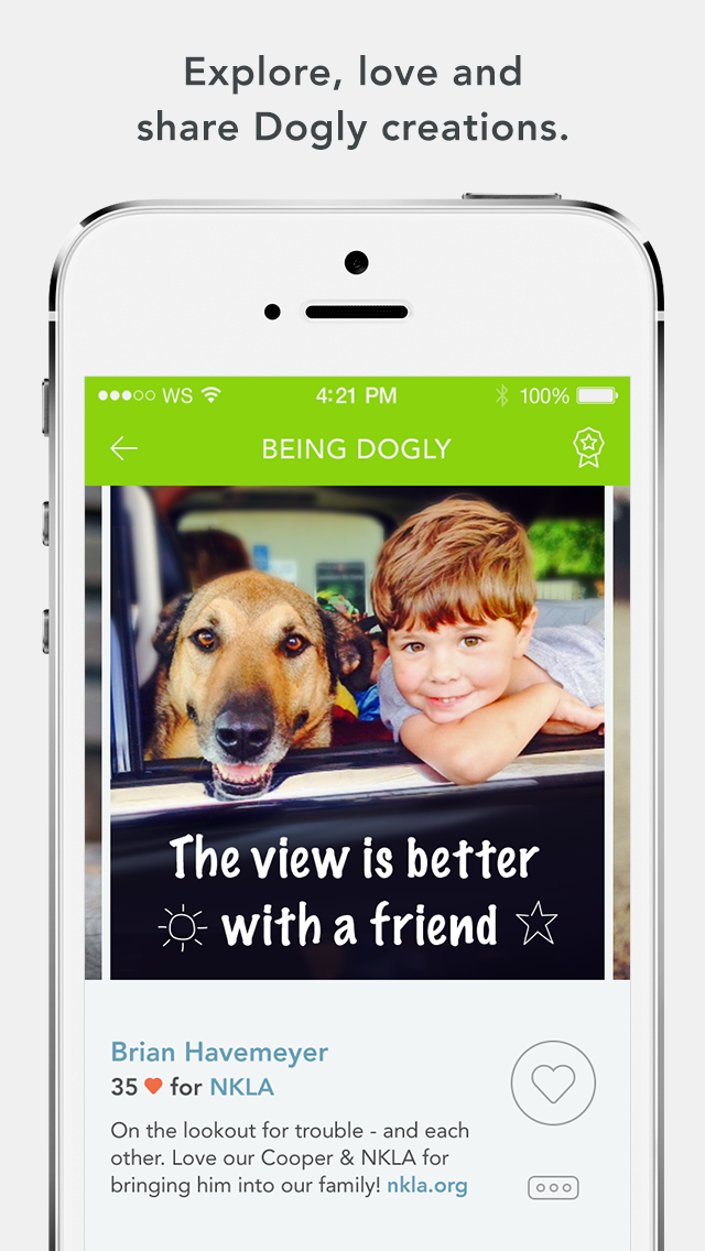 "Dogly, New ""Gamified-for-Good"" Photo-sharing App for Dog Lovers"