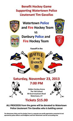 Danbury Police and Firefighters Play Hockey for a Cause