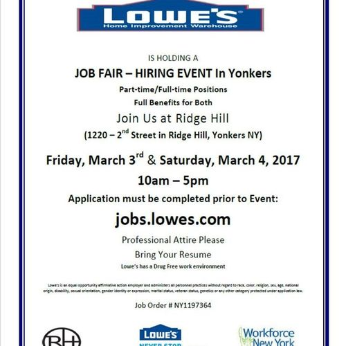 lowes is hiring in yonkers - Lowes Hardware Job Application
