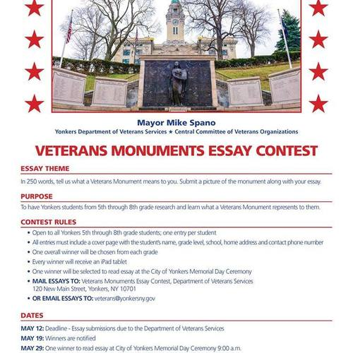 yonkers veterans essay contest