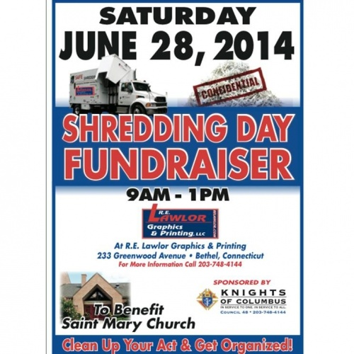 Shredding Day Fundraiser to Benefit Saint Mary Church