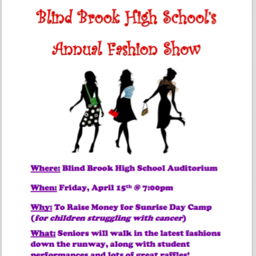Fashion Show At BBHS This Friday