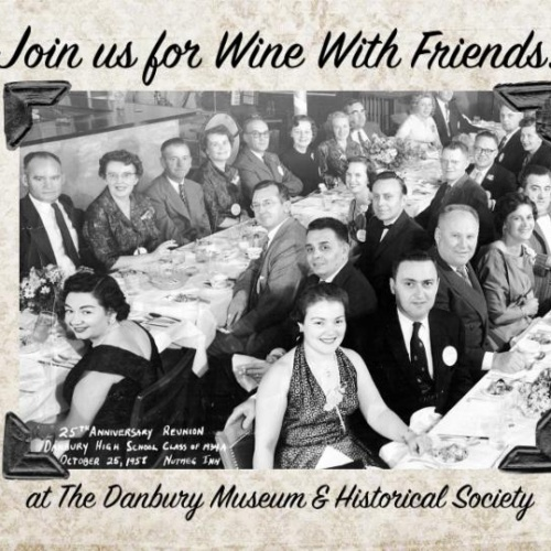 Wine with friends and focus on the fifties exhibit sneak for Adam broderick salon ridgefield