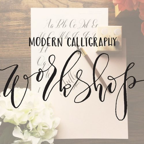 Modern Calligraphy Workshop At The Carriage Barn Arts Center