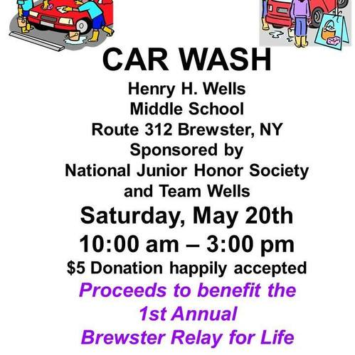Car Wash Fundraiser For Brewster Relay For Life