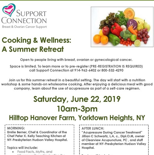 Cooking and Wellness Summer Retreat in Yorktown Heights on