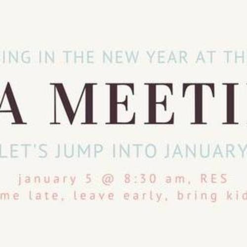 Redding Elementary School PTA Meeting this Friday