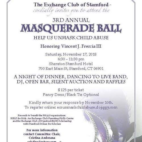 925cce553b 3rd Annual Masquerade Ball in Stamford benefits HELP for Kids