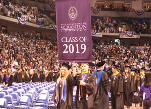 The University of Scranton conferred more than 850 bachelor's and associate's degrees at its undergraduate commencement on May 26 at the Mohegan Sun Arena at Casey Plaza in Wilkes-Barre.