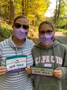 Vicki and Emma Carroll on a Safe Walk benefiting the Women's Center of Greater Danbury