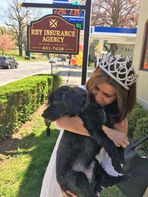 Morgan Modugno, Miss Westchester 2016 and AJ.