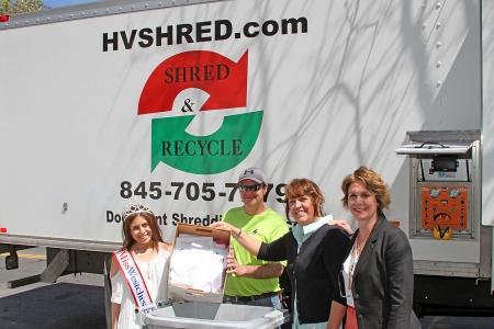 Left to right: Morgan Modugno, Miss Westchester 2016; John Pierce, Legal Shred of Hudson Valley; Laura Rey Iannarelli & Linda Rey, Rey Insurance Agency.