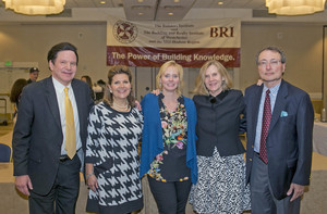 Left to right:  Jeff Hanley, Associate Executive Director; Jane Gill, Controller; Margie Telesco, Office Manager; Margaret Collins, Director of Membership and Communications; Albert Annunziata, Executive Director of the Building and Realty Institute of Westchester & the Mid-Hudson Region.