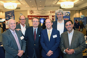 Left to right: Peter F. Gaito, Architect, Peter F Gaito + Associates; John Fry, Vice President, Sullivan Architecture; Albert Annunziata, Executive Director, Building and Realty Institute of Westchester & the Mid-Hudson Region; Peter Gaito Jr, Architect, Peter F Gaito + Associates; Gregg C. DeAngelis, Architect, DeAngelis Architectural Services, LLC; Eric Abraham, Founder, Comstock Residential Contracting.