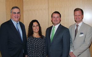 Left to right: John Ravitz, Executive Vice President, Business Council of Westchester; Dani Glaser, Director, Westchester Green Business; Bradford Tito, Program Manager, Communities and Local Government New York State Energy Research and Development Authority (NYSERDA); Scot Fernquist, Program Director, Westchester Green Business