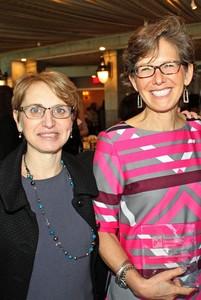 Left to right: Fran Higgins, Interim President, Association of Development Officers  and Jill Singer, Founder, Jill Singer Graphics.