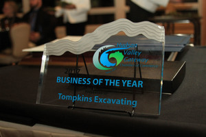 Tompkins Excavation, Business Of The Year, Hudson Valley Gateway Chamber of Commerce.
