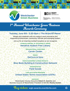 7th Annual Westchester Green Business Recognition Event & Awards Ceremony