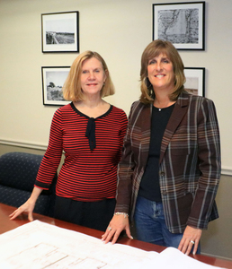 Maggie Collins, BRI Director of Membership Services and Stacey Tompkins, President, Tompkins Excavating