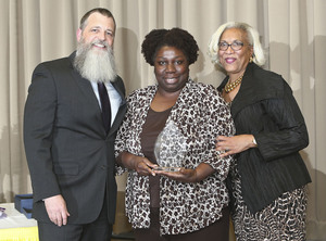 Photo (L to R):  David Gentner, President & CEO, Sherri Noisette, Finance Department, Dorothea Bell, Executive Vice President of Human Resources