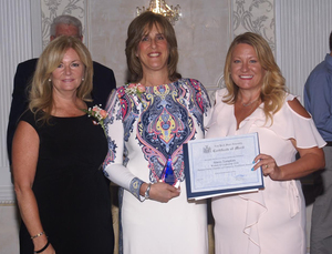 Left to right: MaryEllen Odell, Putnam County Executive; Stacey Tompkins, President, Tompkins Excavating; Jenifer Maher, Chairwoman of the Board, Putnam County Chamber of Commerce.