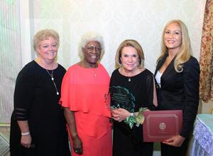 L to R: Mariann Donato, Hon. Aurelia Greene, Bronx Deputy Borough President; Kathy Zamechansky, Sherry Scanlon.