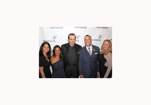 Left to right: Rebecca Solomon, Angela Ciminello, Chazz Palminteri, David Genter and Gianna Palminteri.