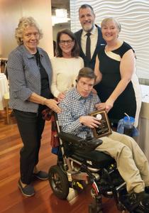Back row left to right: Sister Connie Koch, Eileen Burke, David Gentner, Anne FreyFront: Neal Burke