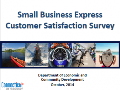 CT Small Business Express Customer Satisfaction Survey from DECD October 2014
