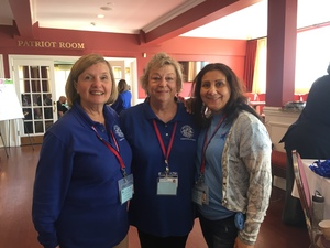 Mahopac residents Kieren Farquhar, center, and Terri Ferri, right, joined Carmel residentSusan Moore, as volunteers to help with event registration