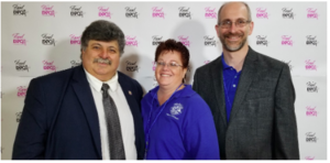 From left, Health Commissioner Michael Nesheiwat, MD; event coordinator Jane Meunier,and Shawn Rogan, public health sanitarian who oversees the health department's food industryprogram, were the driving force behind the 2019 Food Operator's Seminar and Expo.