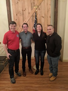 PCYRC 2020 Officers (Lto R) Treasurer: Nick Fannin, Vice President: Ciaran Bruen, President: Tara Keegan and Recording Secretary:Jarred Buchannan.
