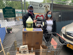 Assemblyman Kevin Byrne (R,C,Ref-Mahopac), his wife, Briana Byrne, and their newborn son, Braeden, dropping off a donation at the Putnam Humane Society on Tuesday, June 2.