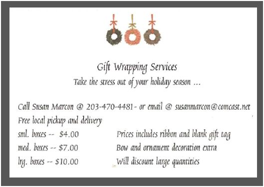 Ridgefield Resident Offers Gift Wrapping Service