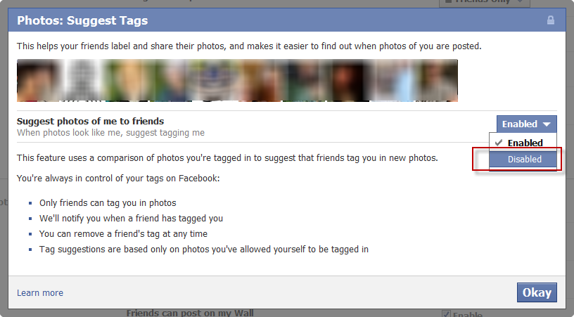Facebook Privacy Things Others Share Dialog Box