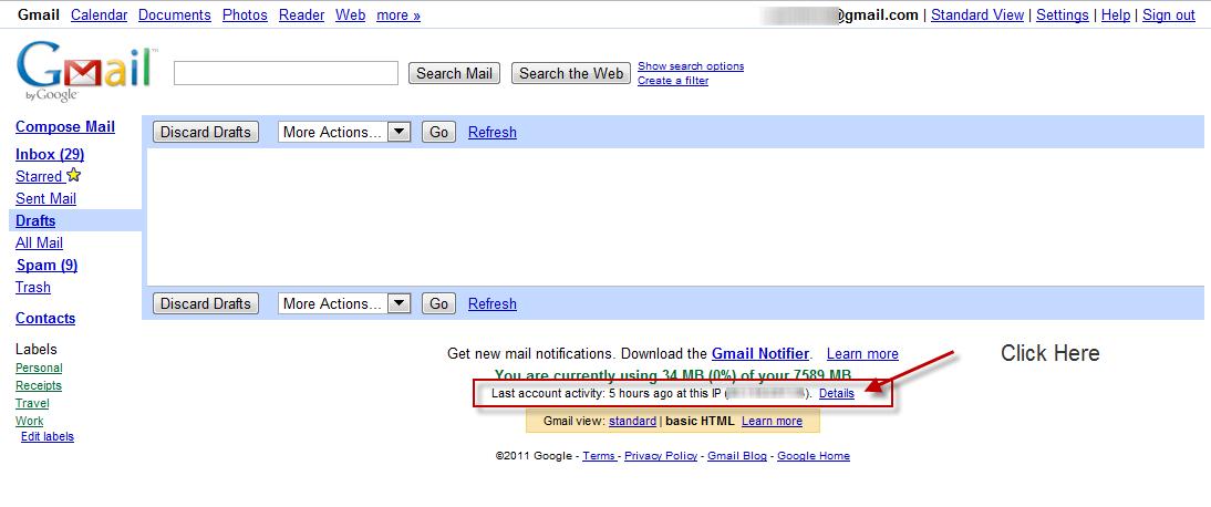 retrieve old gmail