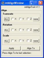 Align_Tool for Maya 1.1.0 (maya script)