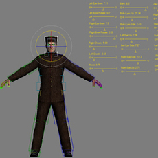 Character Rig With Facials and Morphs for 3dsmax 8.0.0