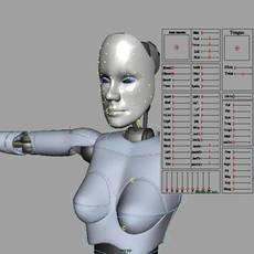 Alexia Body w Adv Facial Controls Rig for Maya 1.0.0