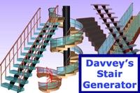 Davveys Stair Generator for Maya 1.1.2 (maya script)