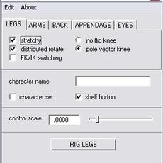 Rig-o-matic for Maya 5.5.0 (maya script)