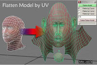 flatten Model by UV for Maya 0.1.2 (maya script)