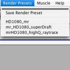 cm_renderPresets for Maya 0.0.6 (maya script)