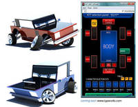 KitCar rig with selection panel, Animated Movie added for Maya 1.0.1