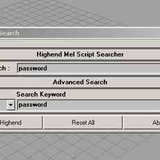 Highend 3D File Search for Maya 1.0.3 (maya script)