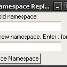 Namespace Replace for Maya 1.0.0 (maya script)