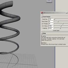 Spiral Creator for Maya 1.0.0 (maya script)